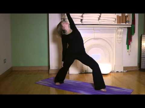 how to do reverse warrior ii yoga pose  youtube
