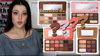 One of Jen Luvs Reviews's most viewed videos: Too Faced Smelly Palette SMACKDOWN! Chocolate, Peanut Butter, or Peach?