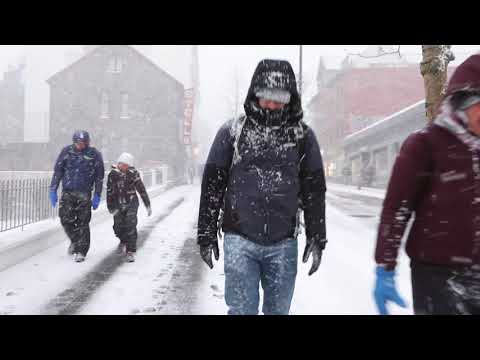 Snow storm in Reykjavík