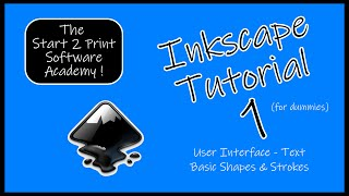 Inkscape Tutorial 1 - Learn the interface, how to write text, design basic shapes and create strokes