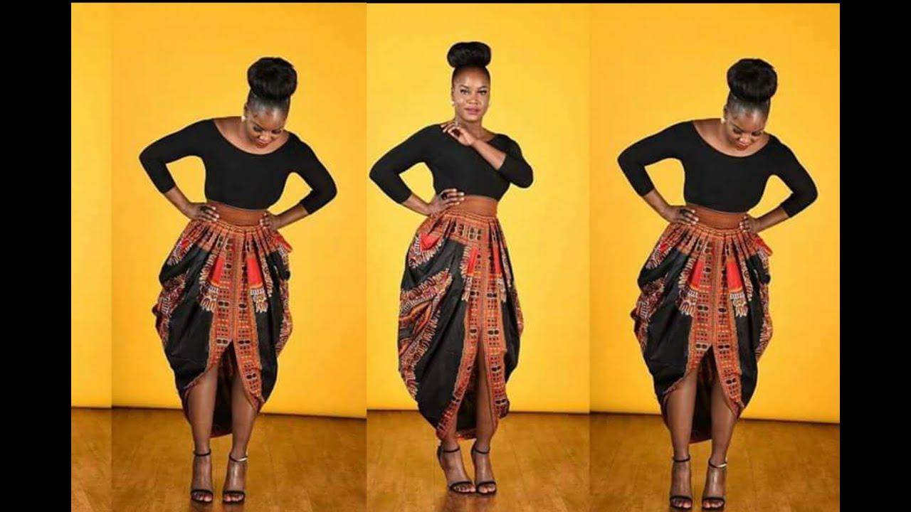 Part 1 One Yard Dashiki Skirt Cowl Skirt Youtube