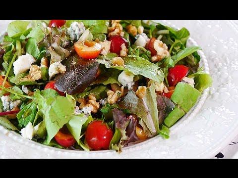 Cherry And Gorgonzola Salad (RECIPE) チェリーサラダを作ったよ。