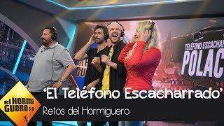 Hugo Silva y Pepón Nieto juegan al 'teléfono escacharrado' en polaco - El Hormiguero 3.0