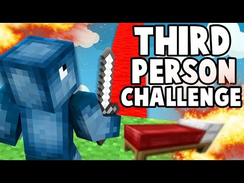 WINNING A GAME OF BEDWARS IN THIRD PERSON!! W/AshDubh