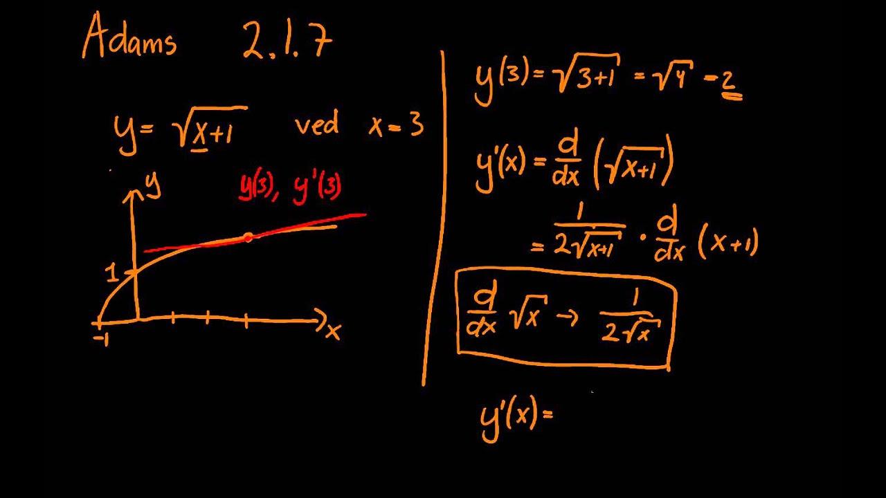 Adams Calculus opgave 2.1.7