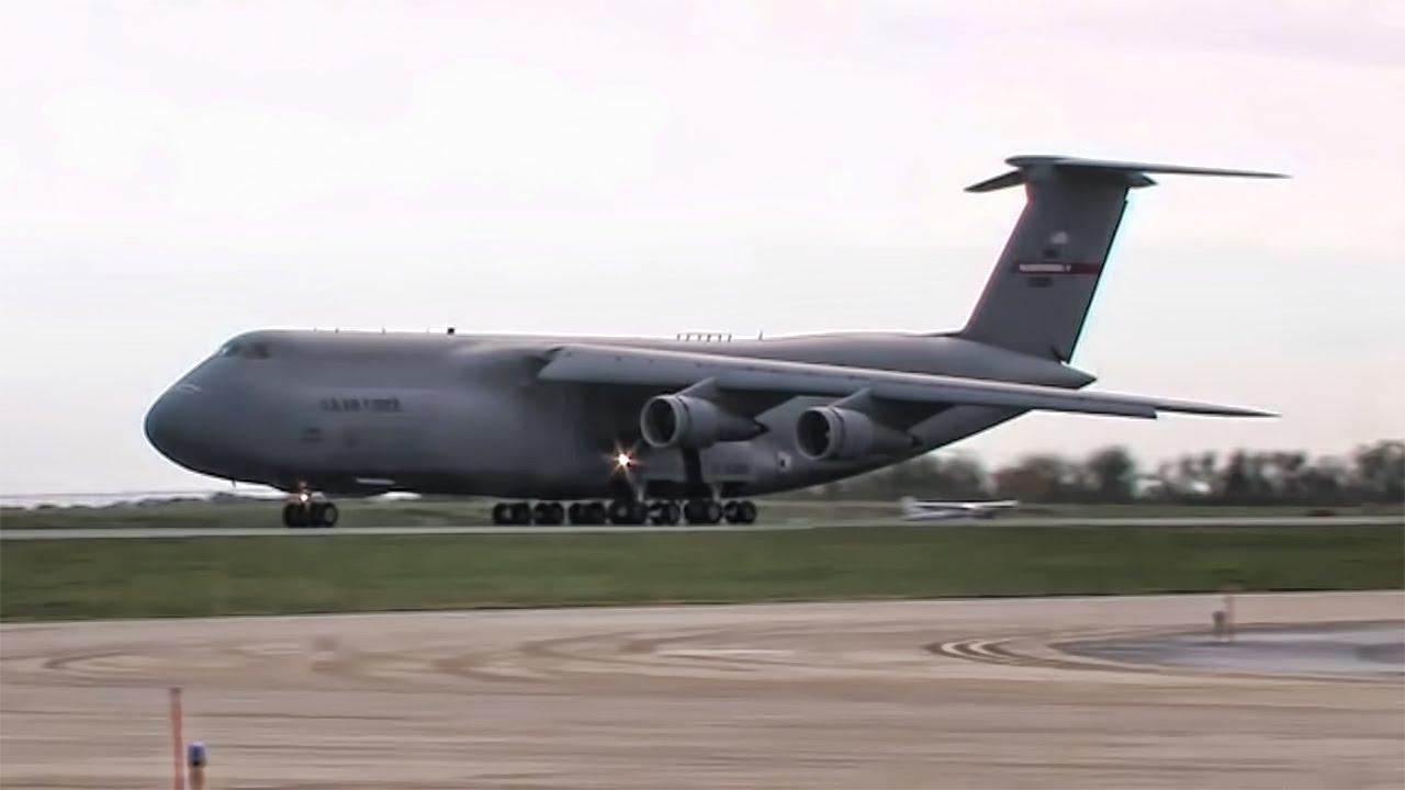 c 5 galaxy massive military cargo plane youtube
