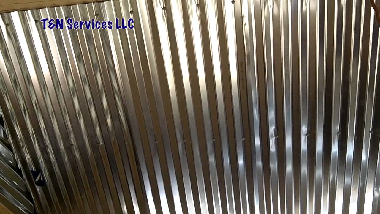 Corrugated Metal Ceiling Install