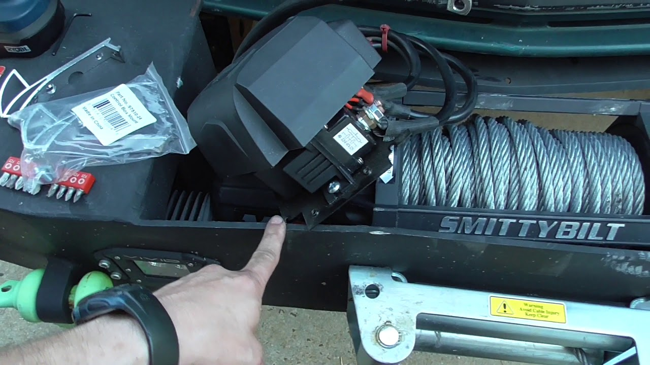 yukon update winch solenoid relocation fix smittybilt x20 12k gen2 [ 1280 x 720 Pixel ]