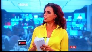 """""""É bonitão!"""" - Gafe ao vivo de Leilane Neubarth em 13/02/2015 (GloboNews)"""