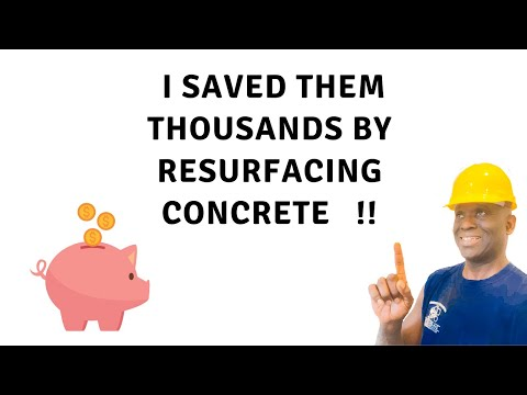 Beginners Learn how to Resurface damaged concrete in 5min in 4k vid | Concrete and Cement Contractor