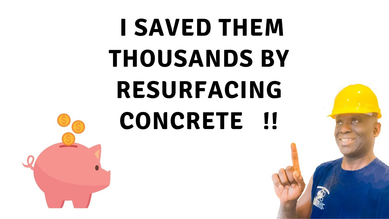 Beginners Learn How To Resurface Damaged Concrete In 5min