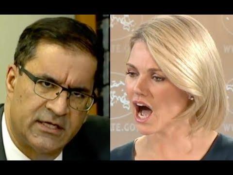 Heather Nauert Gets Pissed At Terrorist Sympathizing Reporter!