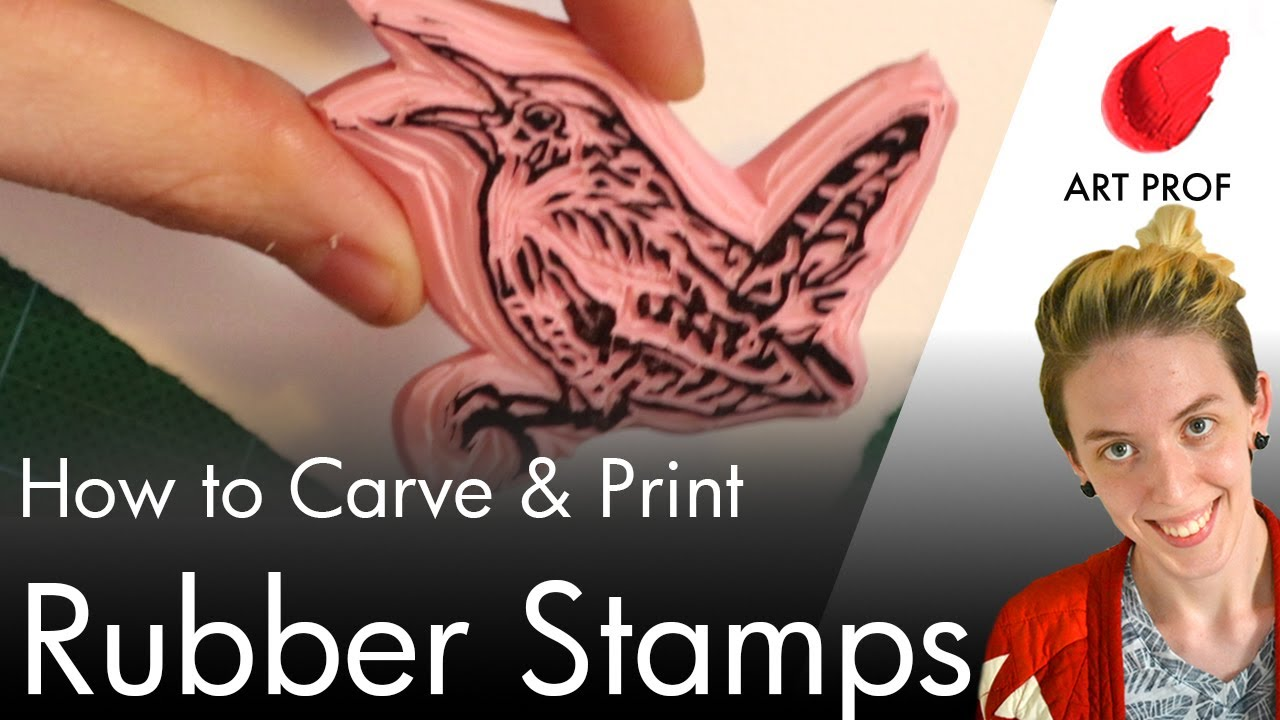 Carving Custom Rubber Stamps You