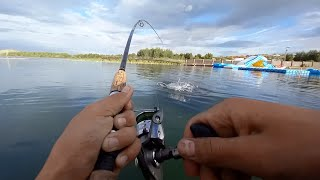 ОНА СХВАТИЛА ПРЯМО ПОД ЛОДКОЙ Рыбалка на спиннинг щуки на спиннинг