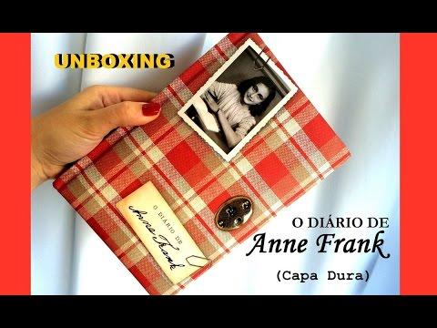 """unboxing---livro-""""o-diário-de-anne-frank""""-edição-capa-dura!"""