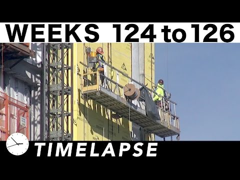 2½-week construction time-lapse with 36 closeup/highlight segments: Weeks 124 thru 126