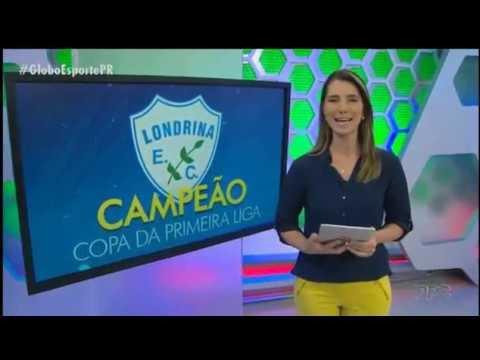O jogo e a festa do Londrina campeao da copa primeira liga 2017