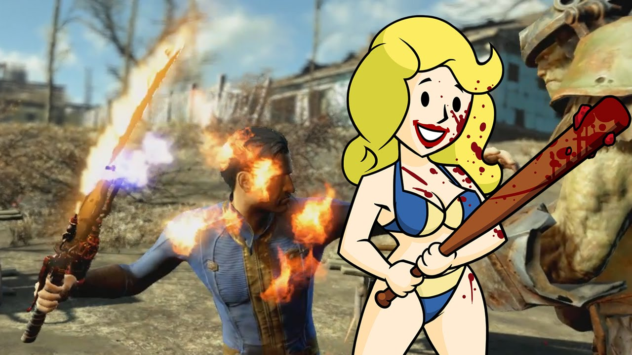 Fallout 4 All Melee Weapons Youtube