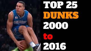 Top 25 NBA Slam Dunk Contest Dunks of All Time (2000-2016) HD Best List Video