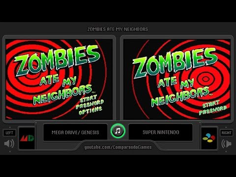 Zombies Ate My Neighbors (Sega Genesis vs Snes) Side by Side Comparison thumbnail