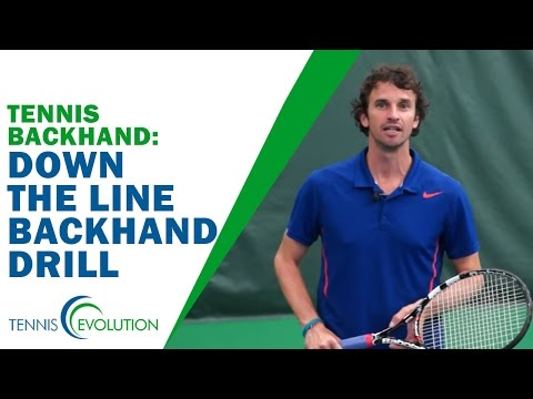 Down The Line Backhand Drill | TENNIS BACKHAND
