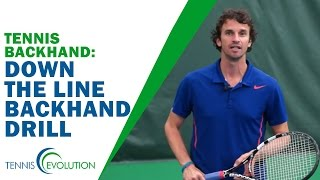 TENNIS TIP BACKHAND | Down The Line Backhand Drill