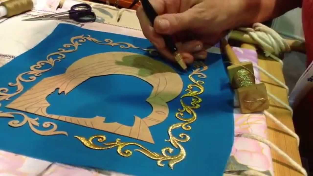 Обучение вышивка золотом