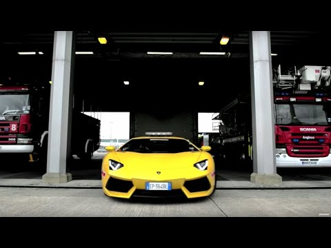 Lamborghini Aventador put to work at airport | Top Gear Magazine
