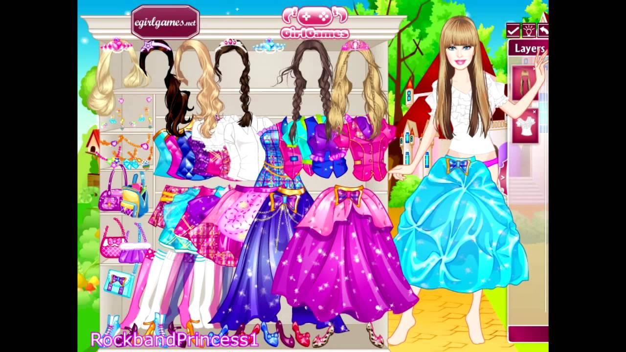 Barbie Princess Charm School Play Kids Games Dress Up