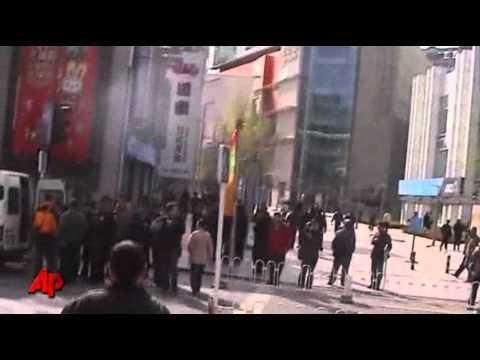 Raw Video: Beijing Police Halt Church Service