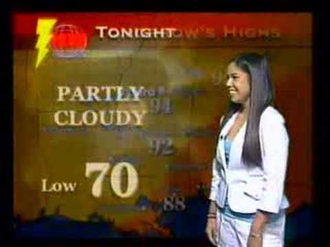 Elizabeth Duarte Aces The Weather Report