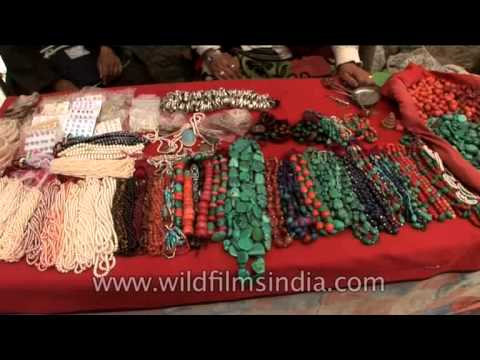 Rings, beads, turquoise and carnelians at Ladakh market