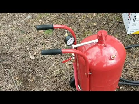 Harbor Freight 40 Pound Sandblaster Review!! Is It Worth The $$
