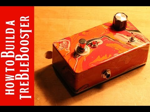Building and Swirling a Treble Booster kit effects pedal