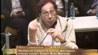 Aurora Grajeda, Ethics Commission Sheriff Mirkarimi, August 16, 2012 [Item 2, PC-23, PL-1]