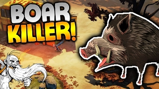 The Flame In The Flood Gameplay - 'STONE COLD BOAR KILLER!!!'  - Let's Play Part 2