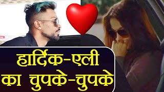 Hardik Pandya spotted with Girlfriend Elli Avram at Airport; Elli Hides face   वनइंडिया हिंदी