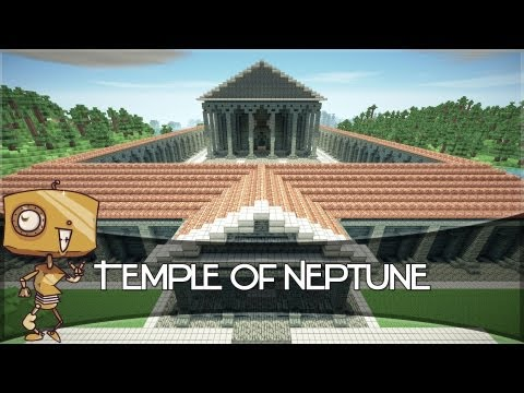 Minecraft Let's Build - a Roman Temple of Neptune!