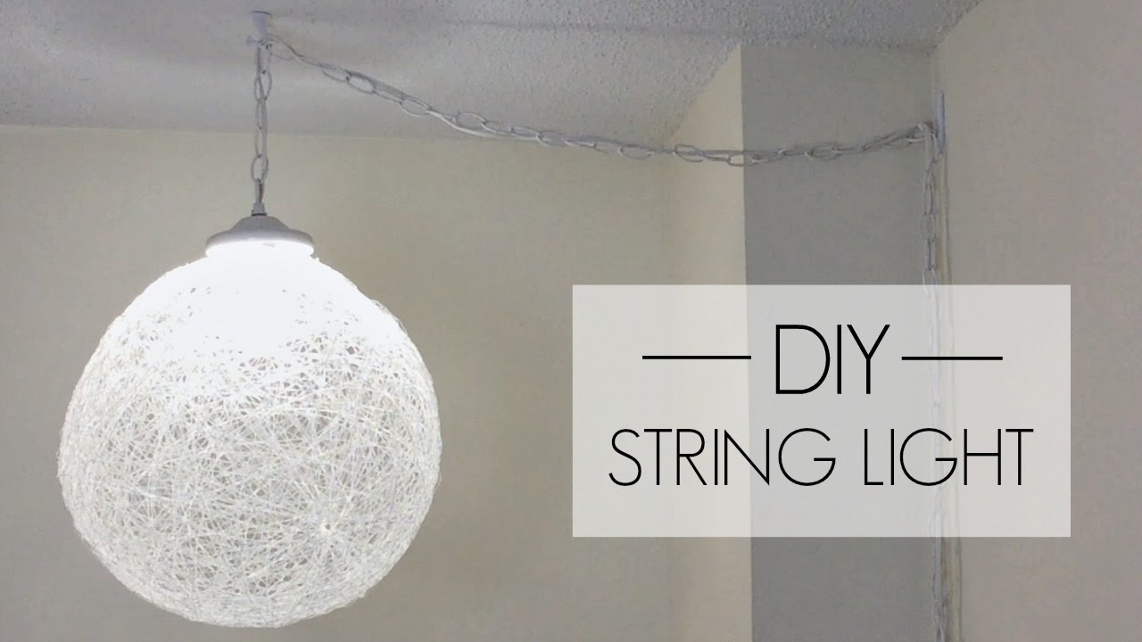 Diy string pendant light youtube diy string pendant light mozeypictures Image collections