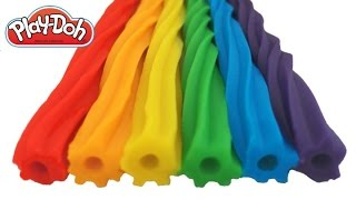 Play Doh How to Make Rainbow Licorice DIY RainbowLearning