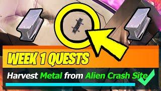 Harvest Metal from an Alien Crash Site (Fortnite Season 8 Week 1 Quest)
