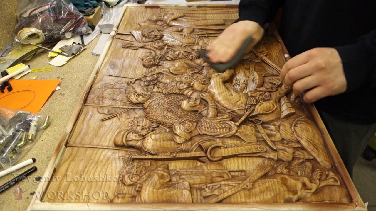 Резные деревянные картины и настенные резные 3D панно - Carved .