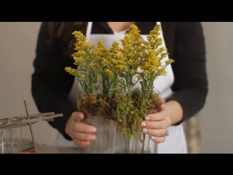 Diy Test Tube Vases Flowers Centerpieces Youtube