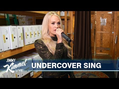 Woody and Jim - Carrie Underwood Goes Undercover At Nashville Boot Store: WATCH