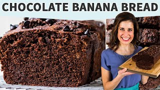 Chocolate Banana Bread | Moist Banana Bread Recipe