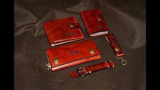 Кошелек ручной работы, портмоне, ремень  от Aleks Berg (Handmade Leather Wallet) маленький обзор