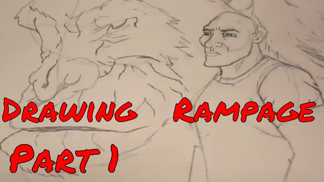 Ss I Draw Rampage Dwayne Johnson George Part 1 No