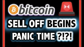 SELL OFF BEGINS!! BITCOIN GOING DOWN?! ⚠️Crypto Analysis TA Today/ BTC Cryptocurrency Price News Now