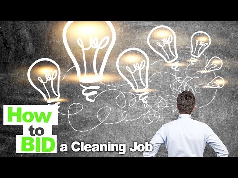 How to  Bid a Cleaning Job