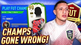 GOT A PRIME ICON!! FUT CHAMPS GONE WRONG... LIVE PRO GAMEPLAY!   FIFA 19 ULTIMATE TEAM